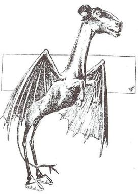 The Jersey Devil, depiction from 1909 Philadelphia newspaper, via Wikipedia