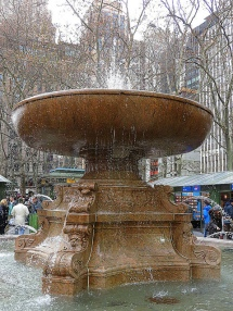 Fountain in Bryant Park. 2013 photo by John Wisniewski via Flickr
