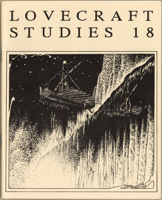 Cover of Lovecraft Studies 18, drawing by Jason Eckhardt