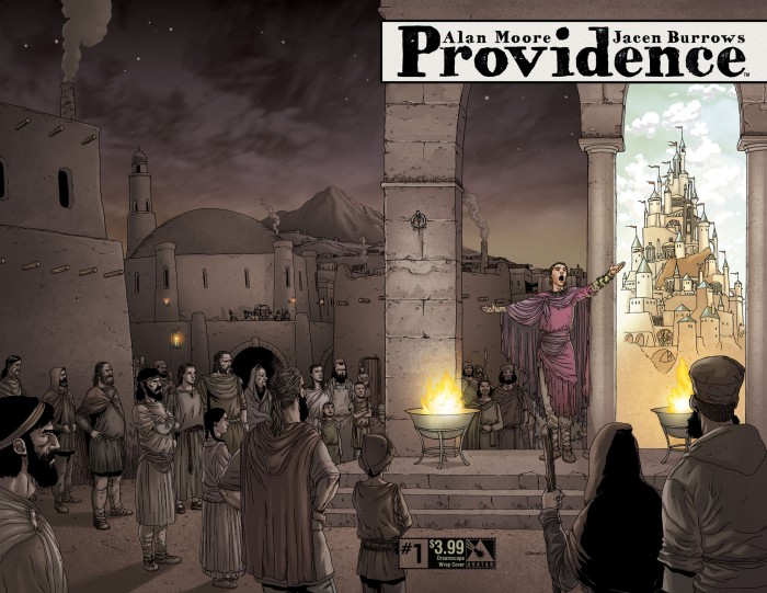 Providence #1, dreamscape wrap cover, by Jacen Burrows