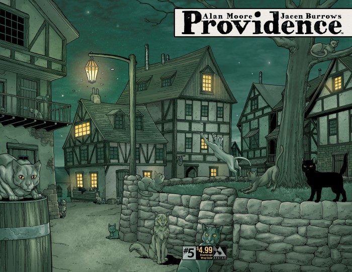 Providence #5, dreamscape wrap cover, by Jacen Burrows