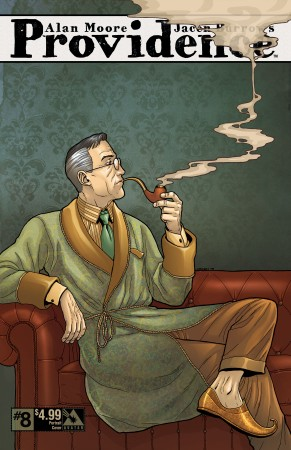 H.P. Lovecraft's Randolph Carter or Providence's Randall Carver - Providence #8 Portrait variant cover, art by Jacen Burrows