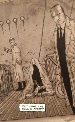 J. Edgar Hoover photo, detail from The Courtyard #1, P22,p2, art by Jacen Burrows