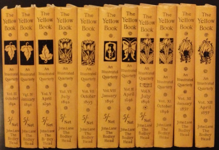 The Yellow Book spine designs, from P33 of Alan Moore's 25,000 Years of Erotic Freedom