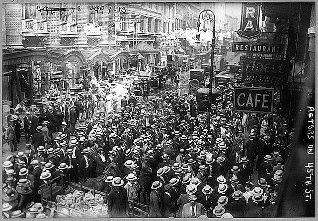1919 Actors Strike historic photo via Flickr