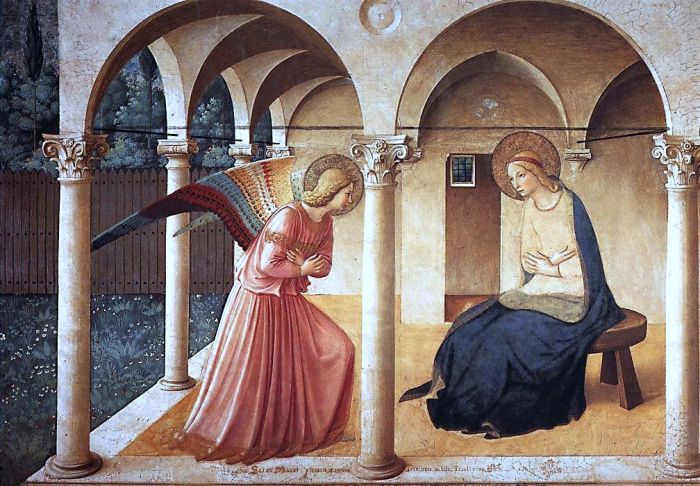 The Annunciation - painting by Fra Angelico - image via Wikipedia