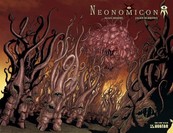 Neonomicon #2 wraparound cover, by Jacen Burrows