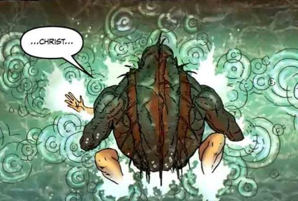 The Deep One raping Agent Brears. Detail of Neonomicon #3, Page 13, panel 3 - written by Alan Moore, art by Jacen Burrows