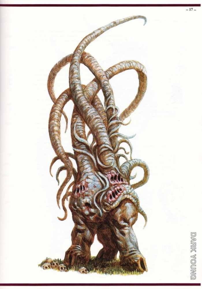 "Dark Young from ""S. Petersen's Field Guide to Cthulhu Monsters"", by Tom Sullivan"