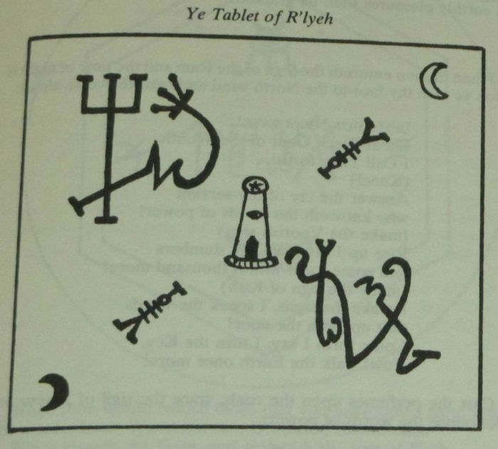 """Ye Tablet of R'lyeh"" from the Hay Necronomicon"