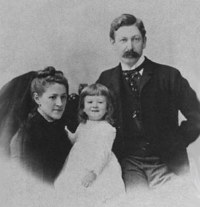 The Lovecraft Family, c.1892. Left to right: Sarah Susan Phillips Lovecraft, Howard Phillips Lovecraft, Winfield Scott Lovecraft