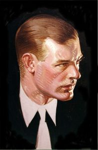One early 20th Century visual reference Burrows mentions is J.C. Leyendecker. Image via Tumblr