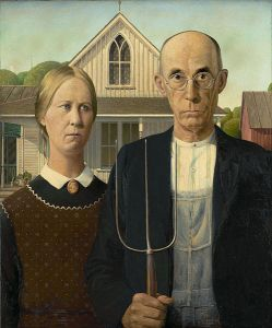 American Gothic (1930) by Grant Wood