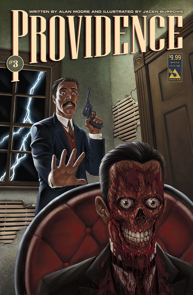 Providence 3 Weird Pulp variant cover, drawn by Jacen Burrows and painted by Michael DiPascale