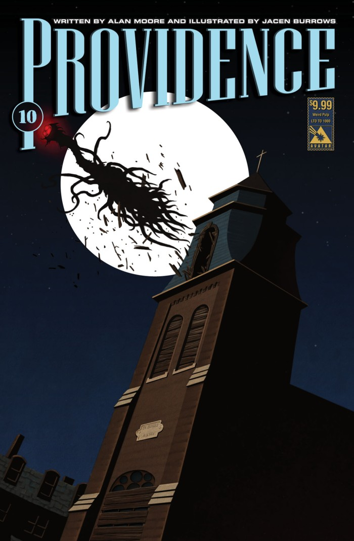 Providence #10 Weird Pulp variant cover, drawn by Jacen Burrows and painted by Michael DiPascale