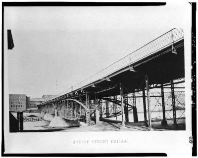 Manchester's MacGregor Bridge (also called the Bridge Street Bridge.) Image via Bridgehunter.