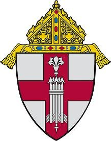 Coat of arms for the dioceses of Manchester, NH. Image via St. Lawrence Parish Community