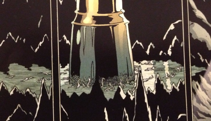 Any one know why there are worms at the base of this golden pillar? Detail of Providence #2, P17 - art by Jacen Burrows
