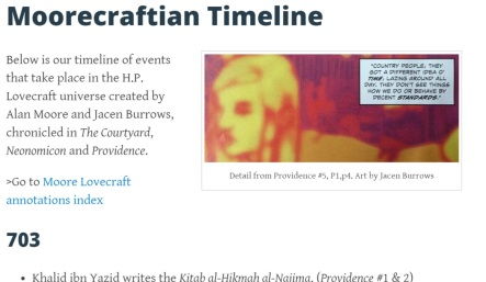 Check out our new timeline page!
