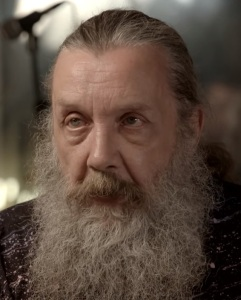 Alan Moore - video still from Higgs interview