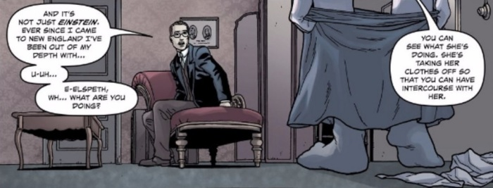 Page 19, panel 1 of Providence #6, art by Jacen Burrows