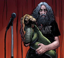 Alan Moore celebrates Glycon in God Is Dead. Art by Facundo Percio