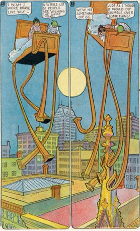Polyptych from 1908 Windsor McCay's Little Nemo in Slumberland comic