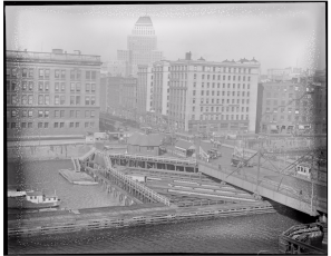 Summer Street Bridge in 1930, photo via Digital Commonwealth
