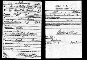Lovecraft's Registration Card