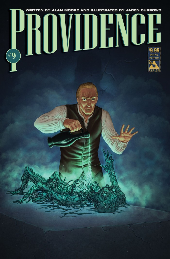 Providence #9 Weird Pulp variant cover, art by Jacen Burrows