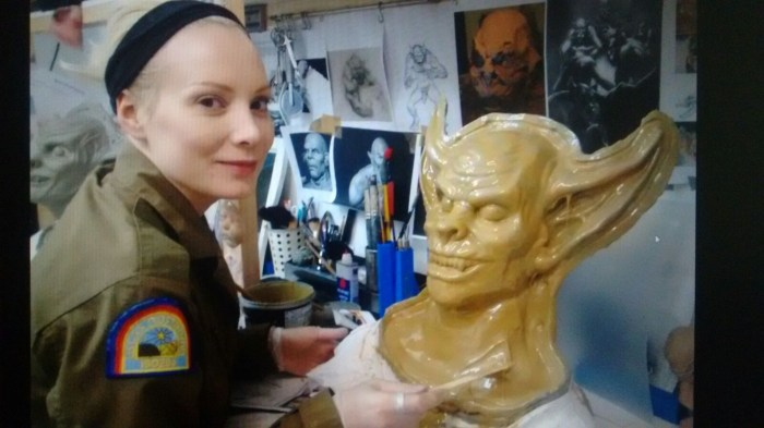 Susanna Peretz with her Providence ghoul prosthetics mold. Photos via SusannaPeretzFX