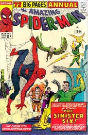 Steve Ditko cover for Amazing Spider-Man annual #1. Image via Wikipedia