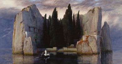 Isle of the Dead painting (3rd version) by Arnold Böcklin. Image via Wikipedia