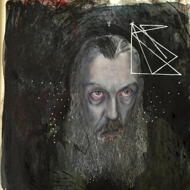 Another Alan Moore portrait by SWIM's Daniel P. Carter - via Instagram