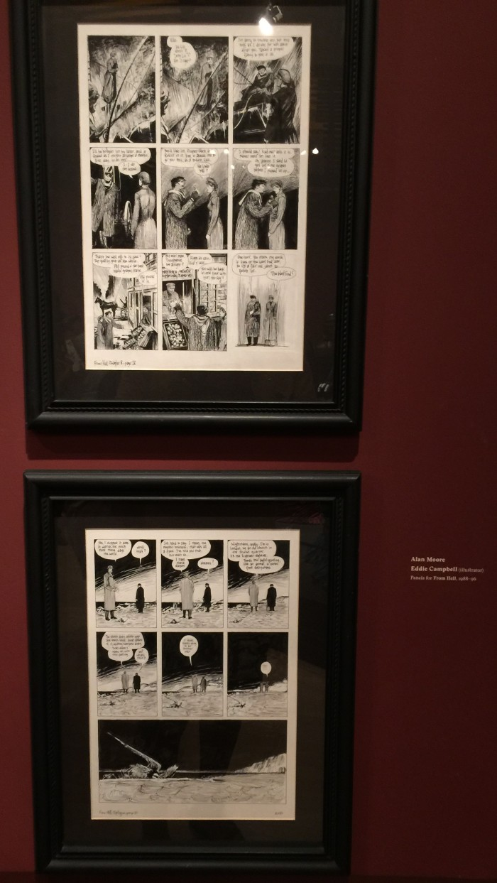 From Hell pages on display at Del Toro show at LACMA