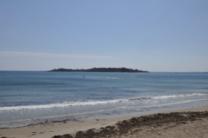 Great Misery Island, as seen from Beverly Farms, Massachusetts